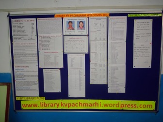 Library Notice board appriciated by Hon. commissioner SIR
